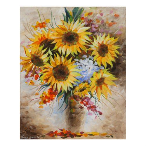 Napraforgók akril festmény 40x50 megvásárolható